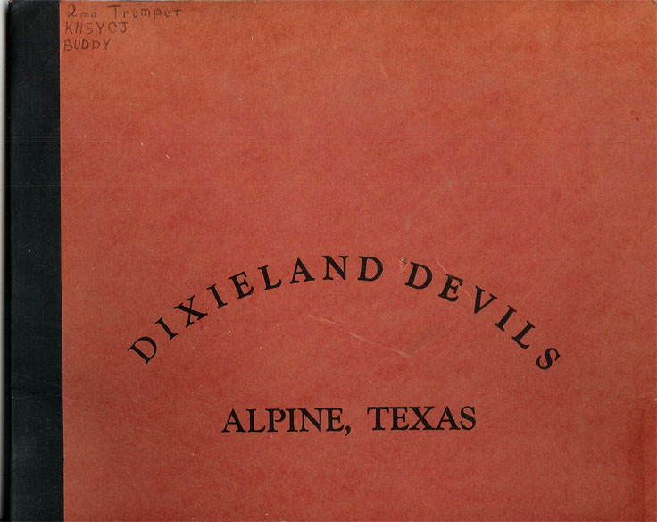 cover of Dixieland Devils music folder