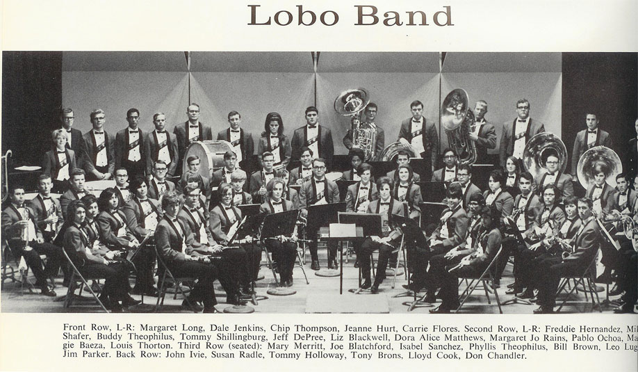 The Sul Ross State College Lobo Band in the late 1960's