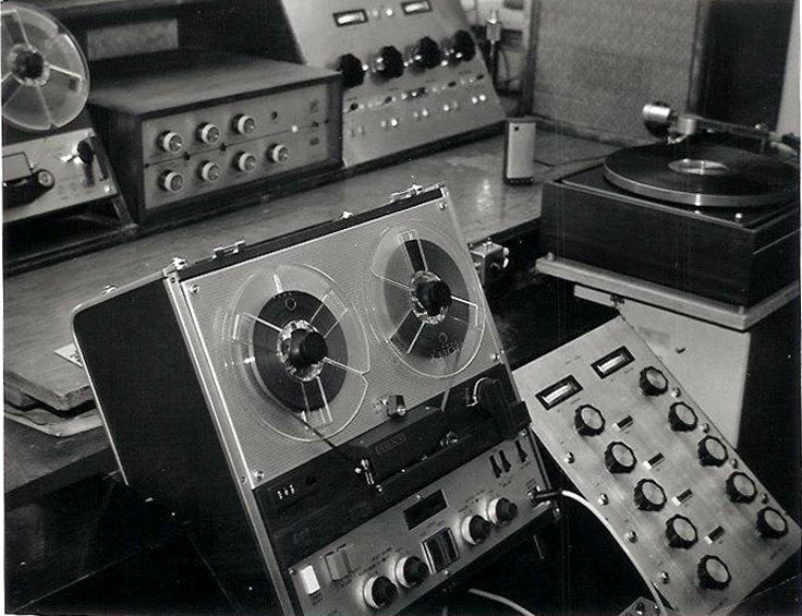 Martin's recording equipment in the 1960's