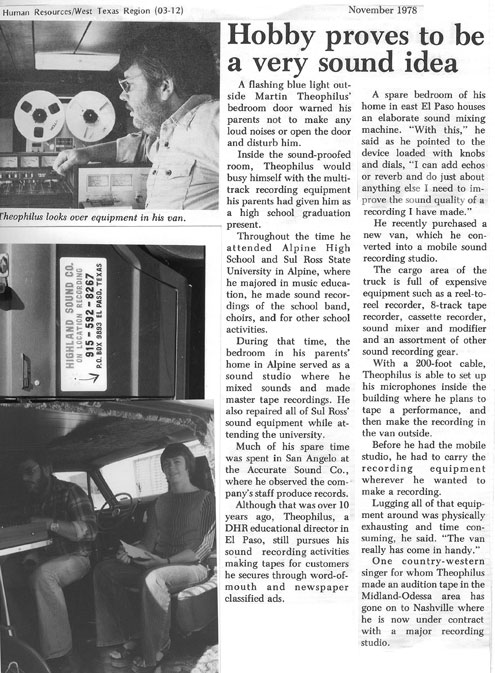 DHS News report on Martin's recording