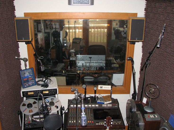 Phantom productions vocal booth and display area