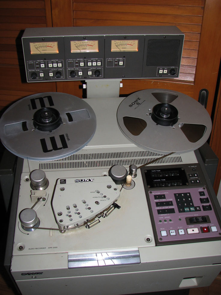 Sony APR-5003 professional reel to reel tape recorder in the Phantom Productions' vintage recording collection
