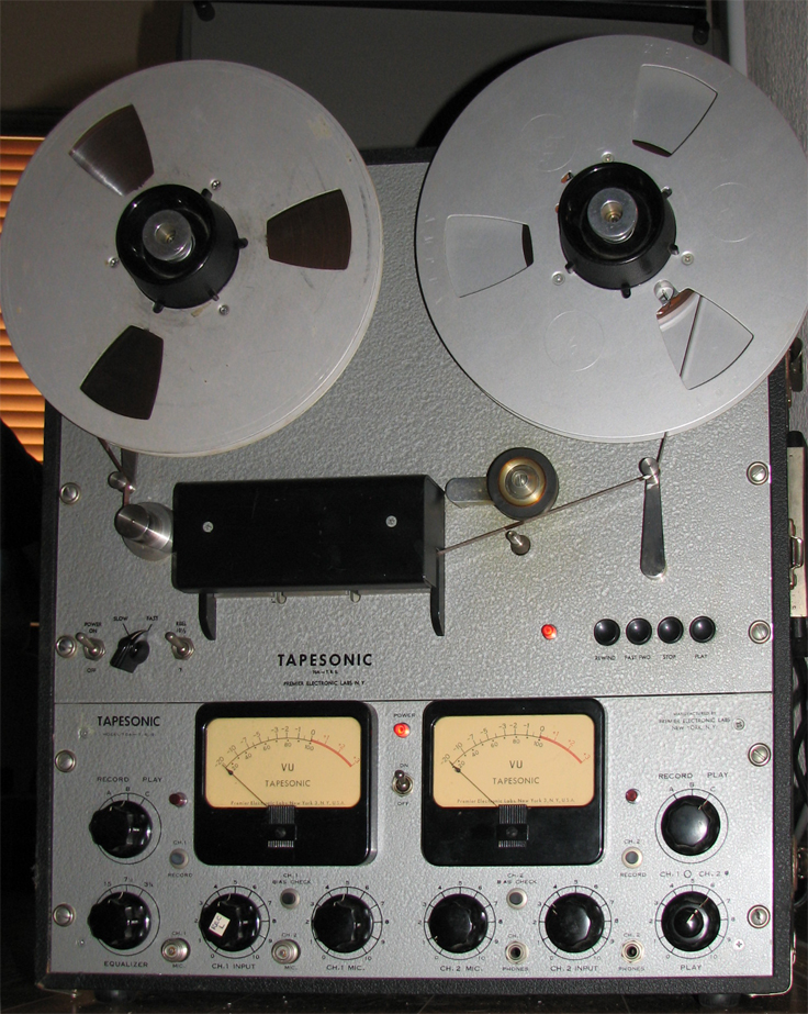 Tapesonic 70 reel tape recorders in the Phantom Productions' vintage recording collection