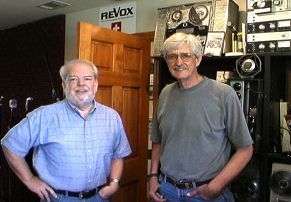 picture of Martin and Grainger in April, 2004 (40 years later)