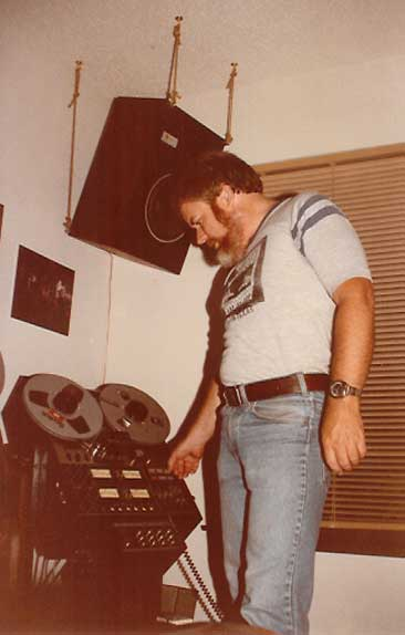 Martin in mixdown room 1984