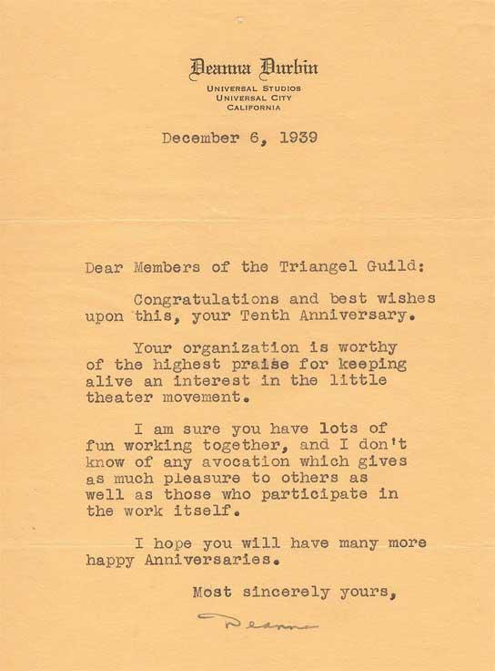 1939 Famous Actor Letters